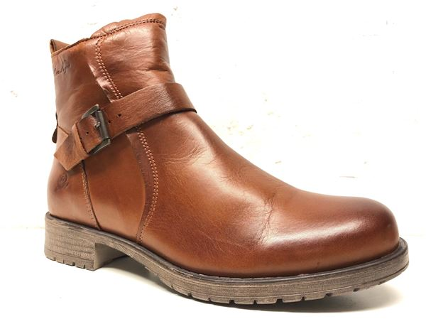 Soft leatherboots congac