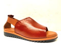Sandal Effortless kastanj